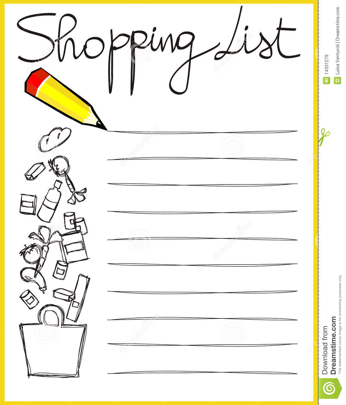 shoping list